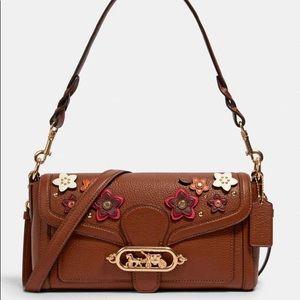 Coach Floral Appliqué Jade Crossbody Bag